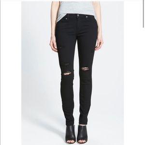 Paige Verdugo Ultra Skinny Denim Jeans Black